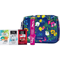 FREE cosmetic bag w/ 3 samples & fullsize mascara w/any $15 Cover Girl or Olay purchase