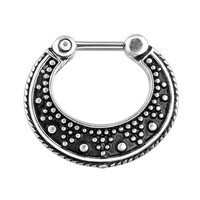 Septum Clicker with Vintage Charm