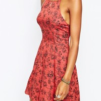 Abercrombie & Fitch High Neck Printed Skater Dress