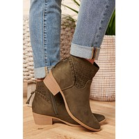 Different Feelings Booties (Khaki)