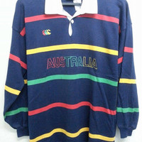 Vintage Canterburry CCC Australia Neon Sports Rugby Shirt