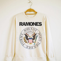 Ramones TShirt Rock TShirt Punk TShirt Music Sweater Sweatshirt Jumpers Long Sleeve Shirt Women TShirt Men TShirt Unisex TShirt Size S,M,L