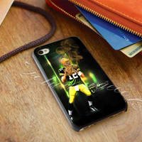 Green Bay Packers Aaron Rodgers - for iPhone 4/4s, iPhone 5/5S/5C, Samsung S3 i9300, Samsung S4 i9500 Hard Case *ojoturuwaecok*