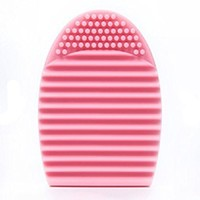 Lowpricenice Cleaning Glove MakeUp Washing Brush Scrubber Board Cosmetic Clean (Pink)