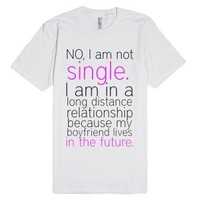 Single-Unisex White T-Shirt