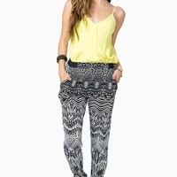 Abstract Monochrome Slouchy Pants