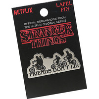 Stranger Things Friends Don't Lie Enamel Pin