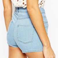 Warehouse High Waist Denim Short