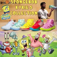 Nike x Spongebob Squarepants Kyrie 5 Men Basketball Shoes Authentic Shoes NBA