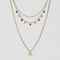 Monki Multi Necklace With Pendant at asos.com