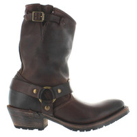 Vintage Eliza - Brown Leather Harness Western Boot