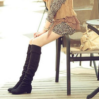 Solid Color  Knee High  Long Boots for Women