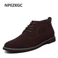 Men Solid Casual Leather Ankle Boots