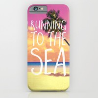 Running to the Sea iPhone & iPod Case by Text Guy