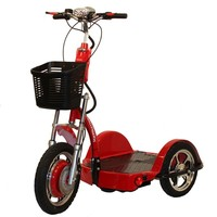 Challenger X Scooter with Folding Seat J750-DLX - Challenger Mobility Standing Scooters   TopMobility.com