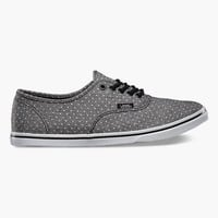 Vans Chambray Dots Authentic Lo Pro Womens Shoes Black  In Sizes