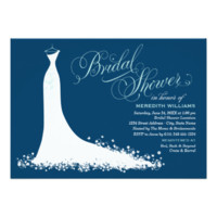 Bridal Shower Invitation | Elegant Wedding Gown 5