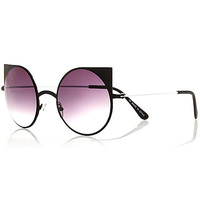 River Island Womens Black cat eye sunglasses