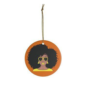 Venessa Yellow And Orange Ceramic Ornaments