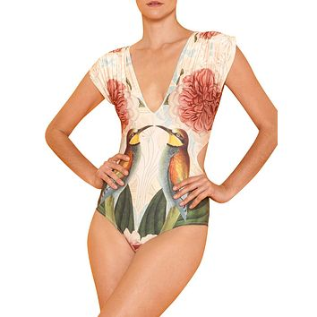 Lavish 1 Pcs Swimsuit High Cut Deep-V Neck For Every Occasion