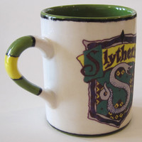 Harry Potter Inspired Hogwarts Slytherin House Crest Regular or Travel Mug 11-16 oz.