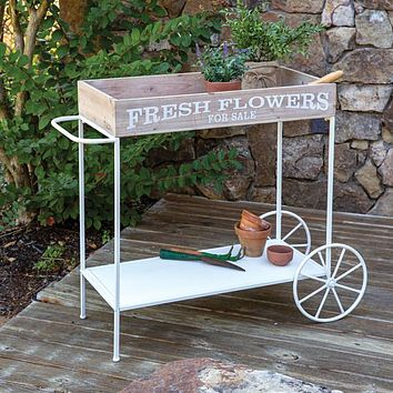 Fresh Flowers Rolling Cart