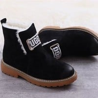 UGG High Quality winter women's boots Black shoes DCCK