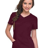Buy Landau Missy Banded Crossover Solid Nursing Scrub Top for $26.95
