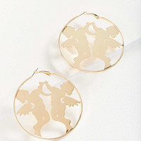 Etched Zodiac Statement Hoop Earring   Urban Outfitters
