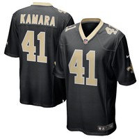 Men's New Orleans Saints Alvin Kamara Nike Black Game Jersey - Best Deal Online