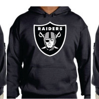 Raiders  Unisex Hoodie  Oakland California Women  Men with sleeves printed S- 5XL sizes  Unique Christmas gift