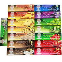 Hornet 15 Packs Variety Juicy Fruit Flavored Cigarette Rolling Paper,king Size 110*44mm,32 Papers Per Pack(Total 480 Papers)