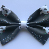 The Phantom of the Opera Inspired Classic Hair Bow or Clip On Bow Tie