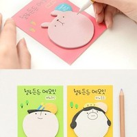 Big Head Memo Pad Big Paper Stationery Lovely Sticky Note from JeweledDream