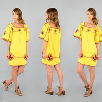70's Embroidered MEXICAN Tunic / Mini Dress