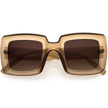 High Fashion 70s Inspired Chunky Square Sunglasses D110