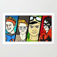 5SOS~Superheroes Art Print by Lucia C