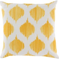 Ogee Throw Pillow Yellow, Neutral