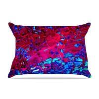 "Ebi Emporium ""Eternal Tide"" Red Blue Pillow Case"