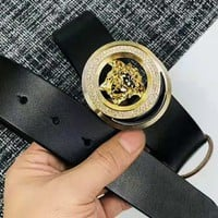 Versace Tide brand men's simple and versatile fashion smooth buckle belt