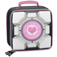 Portal Weighted Companion Cube Soft Tote Bag Lunch Box - Crowded Coop - Portal - Lunch Boxes at Entertainment Earth