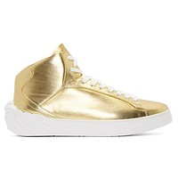 Boys & Men Versace Leather High-Top Sneakers Sport Shoes