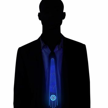 Power Light Up LED Tie Sound Activated