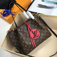 LV Louis Vuitton Newest Popular Women Leather Handbag Tote Crossbody Shoulder Bag Satchel 822