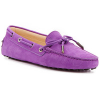 """Some of you have to get in on this: TOD's """"Gommino"""" Tie Front Suede Driving Shoe"""