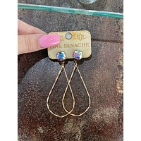 Twisted Gold Teardrop Earring-AB Post-1CNC A64