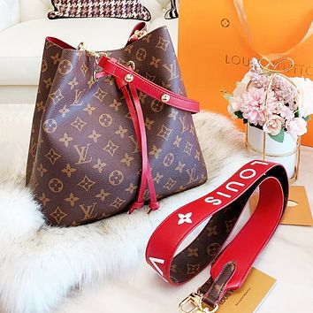 LV Louis Vuitton Fashion Women Shopping Bag Leather Bucket Bag Crossbody Satchel Shoulder Bag