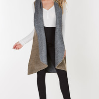 Duet Open Front Hooded Vest