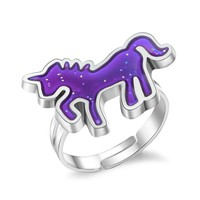 Animal Unicorn Mood ring color changing ringTemperature Emotion rings for women   unicorn party accessories
