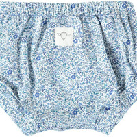 Blue Floral Baby Bloomers